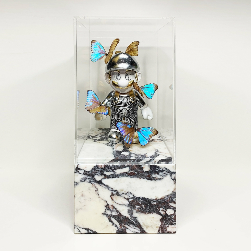 Art Big Mario | Marble base, acrylic glass, fibre glass, paint, gold/silver/copper | Unique | Alexandre De Poplavsky