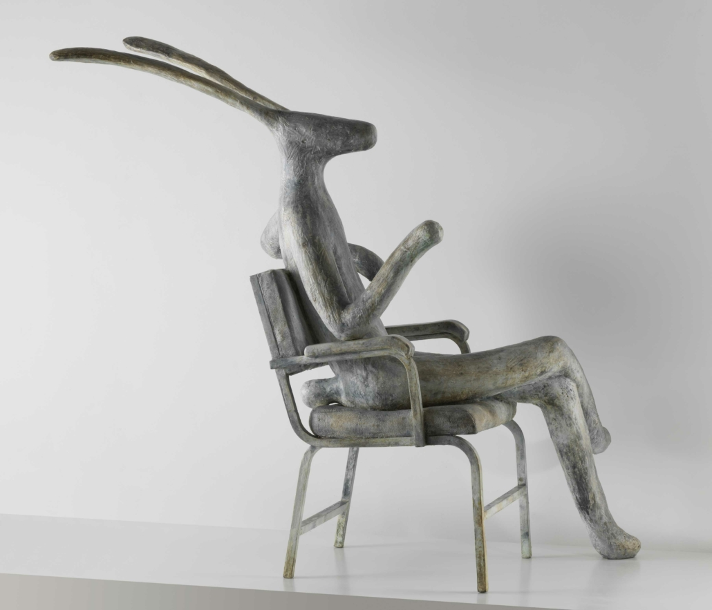 Hare On Chair (Sharon Stone) | Bonze | 140x140x57cm | 1/12 | Guy du Toit
