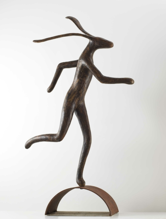 The Jogger | Bronze & Steel | 223x145x63cm | Edition 3 from 12 | Guy du Toit