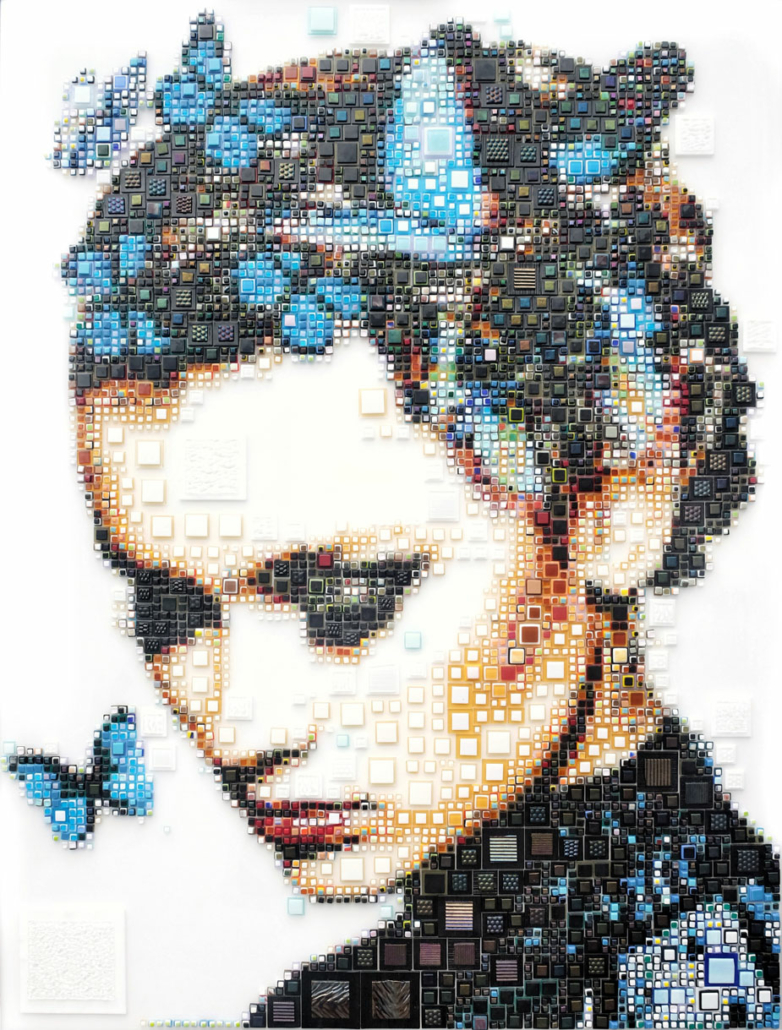 Here In My Head | Glass Mosaic | 152x114cm | Isabelle Scheltjens