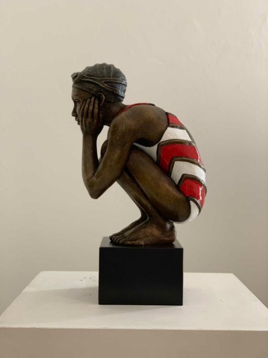 Awaiting your return | Bronze | 20x30x50cm | Edition of 17 | Marieke Prinsloo Rowe