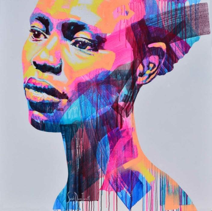 W Series 9/09 | 130x130cm | Acrylic on canvas | Sarah Danes Jarrett