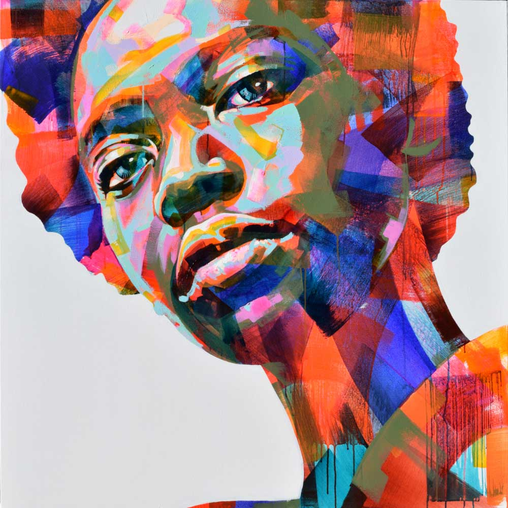 W Series 9/21 | 130x130cm | Acrylic on canvas | Sarah Danes Jarrett